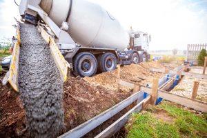 truck pouring concrete